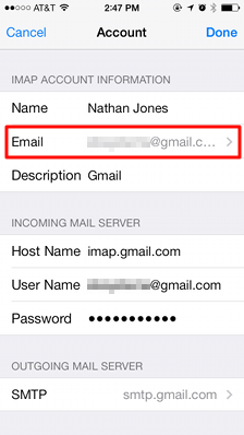 how to add gmail to iphone 7